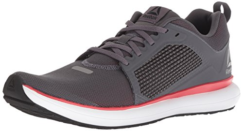 Reebok Men's Driftium Ride Running Shoe, ash Grey/Primal red/White, 13 M US