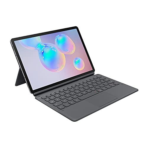 Funda con Teclado Oficial Samsung Tipo Libro para Galaxy Tab S6 Gris [Versión portuguesa]