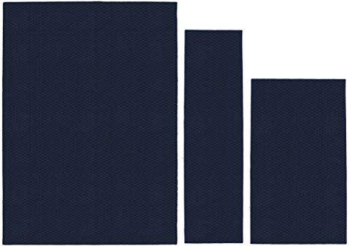Garland Rug Town Square Area Rug Set, 3-Piece (5'x7', 3'x4', 24'x60'), Navy