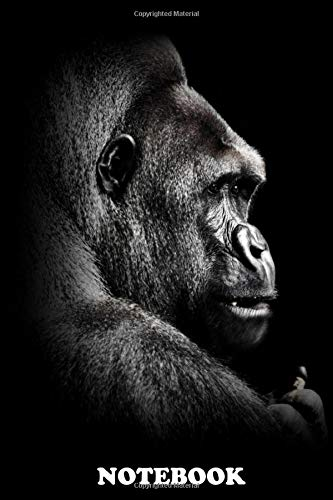 Notebook: Gorilla Face Poster Black And White Wallpaper , Journal for Writing, College Ruled Size 6' x 9', 110 Pages