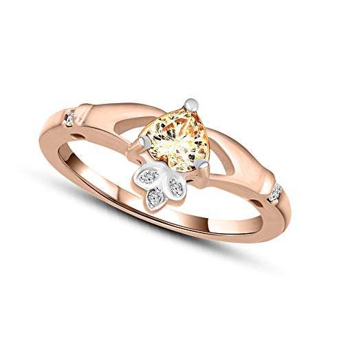 Mothers day gifts Diamond Ring for Mom Natural Diamond Ring 1/20 ct Diamond Ring For Women GH-I1 Quality 10K Rose Gold Diamond Jewelry Gifts 10K Diamodn Rings Best Mothers Day Gifts (0.05 Ct Diamond Key)