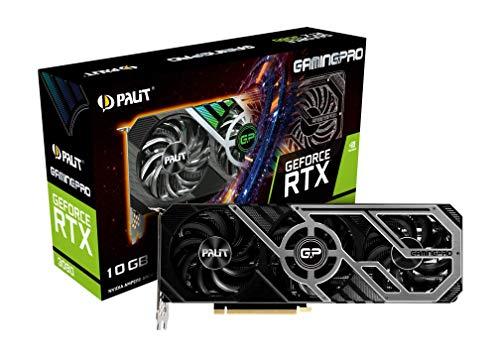 Palit GeForce RTX 3080 GamingPro 10GB GDDR6X Ray-Tracing Grafikkarte, 8704 Core, 1440MHz GPU, 1710MHz Boost, 3X DisplayPort, HDMI, Advanced TurboFan 3.0