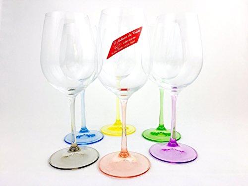 Weingläser, handgemacht, Service 6 Kristallgläser, 35cl, Unterschrieben und gestempelt cristal Klein 54120 Baccarat, Geschenkidee.