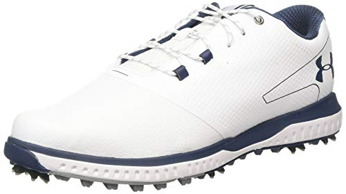 Under Armour Fade RST 2 E, Scarpe da Golf Uomo, Bianco (White/Steel/Academy 100), 43 EU