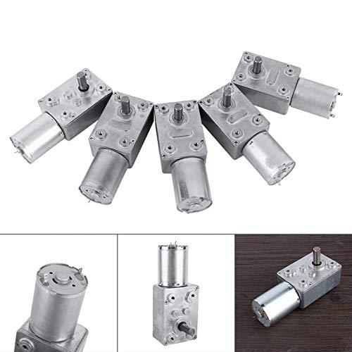 DC 12V Reversible High Torque Turbo Worm Gearbox Motor DC Reducción de velocidad Motor eléctrico Total metal 5/6/20/40/62 (RPM) (40RPM)
