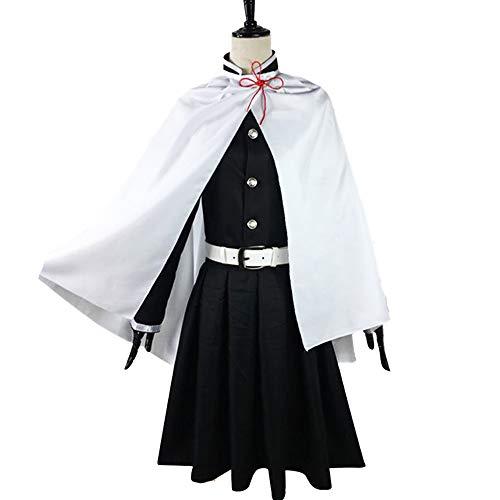 Diamonia Erwachsene Anime Cosplay Uniform, Tsuyuri Kanawo Anzug Mit Schal-Mantel-Rock Kopfbedeckung Gürtel Fliege, Props Für Männer Weibliche Weihnachten Maskerade-Masken-Party,Female,S