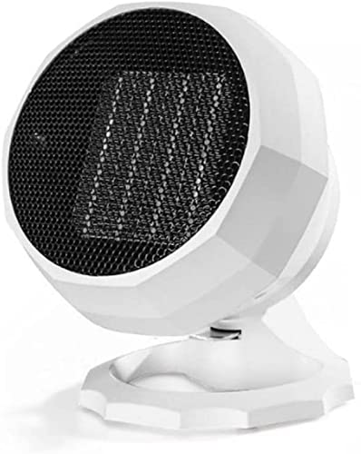 HXJZJ Calentador de Ventilador Eléctrico, Calentador de Ventilador con Termostato Ajustable, Ideal para Dormitorio, Escritorio de Oficina y Cocina Calentador de Ahorro de Energía,White