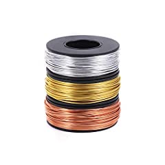 【PACKAGE INCLUDED】ALEXCRAFT jewelry wire set comes with 3 rolls different colors craft wires(each roll has 72 feet,total 216 feet). Perfect beading wire for beginners or professionals on designing and creating 【HIGHT QUOLITY JEWELRY WIRE】The crafting...