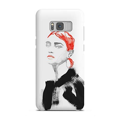 artboxONE Premium-Case Handyhülle für Samsung Galaxy S8 Plus Red Low Bun von Sarah Plaumann