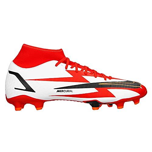 Nike Unisex Mercurial Superfly 8 Academy CR7 MG Fussballschuh, Chile Red/Black-White-Total Orange, 44 EU
