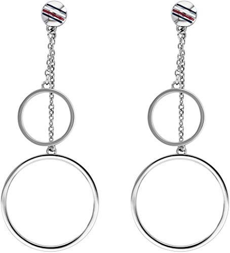 Tommy Hilfiger Fine Core Damen Ohrringe Edelstahl Silber 5,1 cm