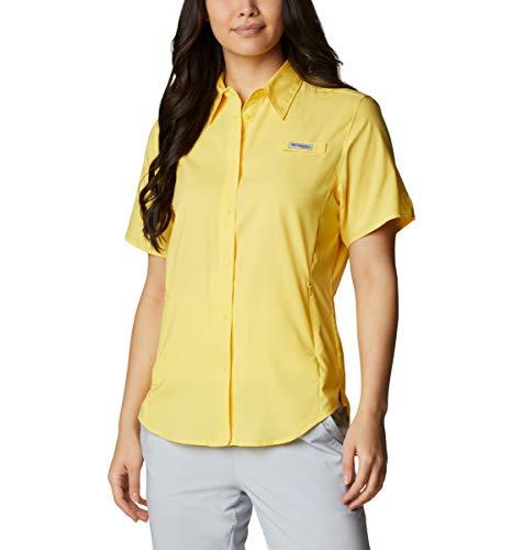 Columbia Tamiami II - Camiseta de Manga Corta para Mujer, diseño de Sol, Talla Mediana