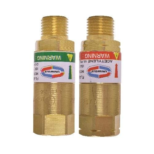 Best Price Uniweld TFAA, Oxygen & Fuel Flashback Arrestor for Torch, Pack of 3 pcs