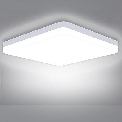 Plafonnier LED 36 W ASHUAQI 6500 K 3240 lm - Pour salon, chambre à coucher, cuisine, couloir, balcon, salle à manger, cave, blanc froid