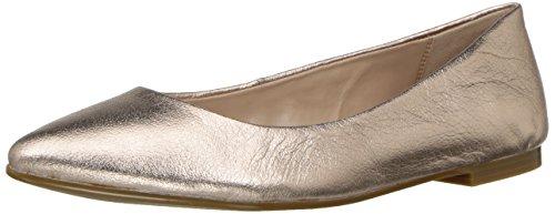 BCBGeneration Women's Millie Ballet Flat, Rosegold Leathe, 6.5