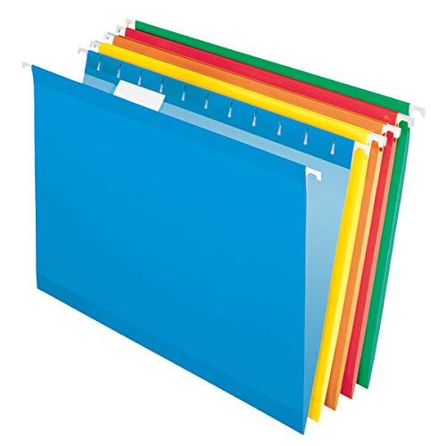 Office Depot Hanging Folders, 15 3/4in. x 9 3/8in, Legal Size, Assorted Primary Colors, Box of 25, OM97649
