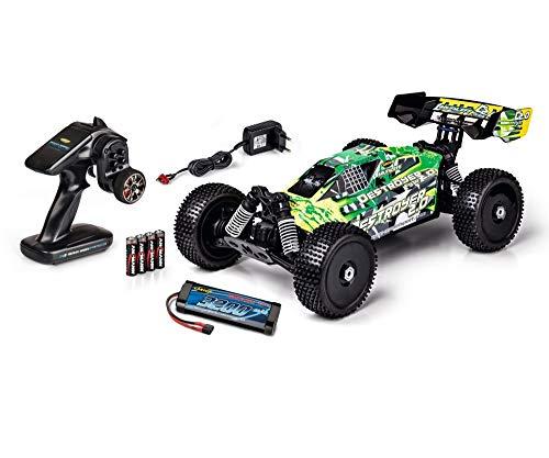 CARSON 500404188 - 1:10 FY10 Buggy Destroyer 2.0 2S 100{4ce50898818e122d3020785c32c7e79786793d6fa1a887da0ade6b245d04b9ca}RTR, Ferngesteuertes Auto/ Fahrzeug, RC-Fahrzeug, inkl. Batterien und Fernsteuerung
