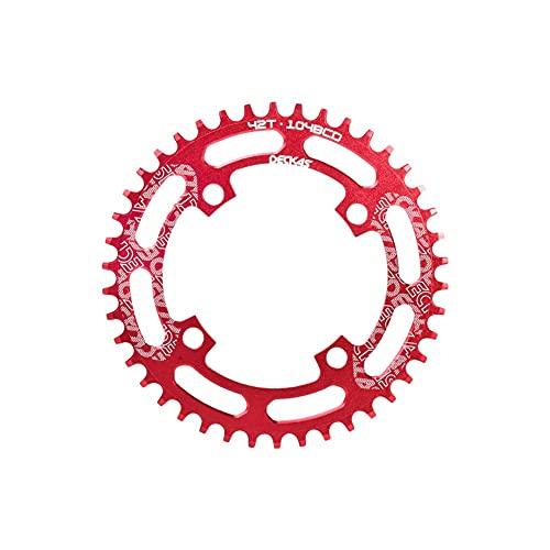 ZHTT BCD 104 Schmales breites Fahrradkettenblatt Mountainbike-Komponenten Single Speed Chainwheel Bike Chainring