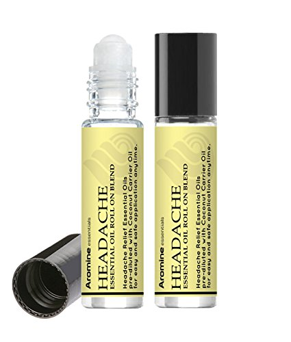 Headache Relief Essential Oil Roll On, Pre-Diluted 10ml (Pack of 2)