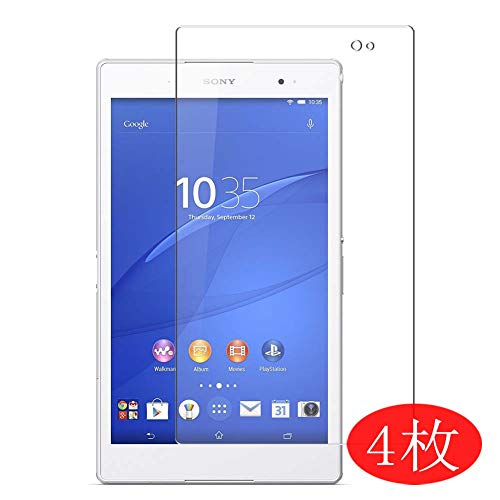 【4 Pack】 Synvy Screen Protector for Sony Xperia Z3 Tablet Compact SGP621 SGP611 SGP612 8' TPU Flexible HD Clear Case-Friendly Film Protective Protectors [Not Tempered Glass] New Version