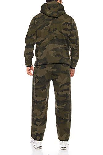 Finchman Finchsuit 1 Herren Jogging Anzug Trainingsanzug Sportanzug FMJS135, Camo Grün, XL - 4