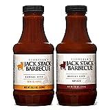 Jack Stack Barbecue Original and Spicy Sauce - Kansas City BBQ Sauce 2 Pack - Spicy & Original Smoked KC BBQ Sauce (2, 18oz Bottles)