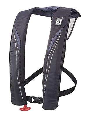 Bluestorm Gear Cirrus 26 Inflatable PFD Life Jacket (Apex Black) | US Coast Guard Approved Automatic/Manual Life Vest for Adults