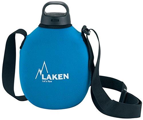 Laken Clásica con Tapón Classic, Cantimplora de Aluminio con Fonda de Neoppreno, Azul, 1 L
