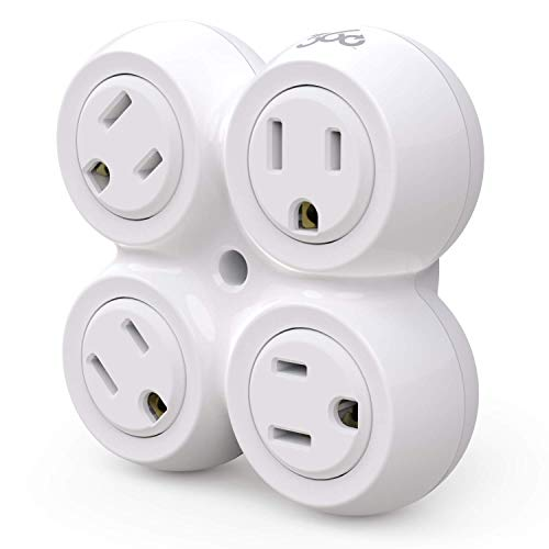 360 Electrical 36031 Revolve Basic 4 Rotating Adapter Multi-Outlet, White