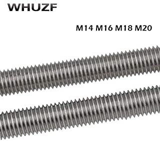 Ochoos Threaded Rod M14/16/18/20250mm 1pc 304 Stainless Steel Thread bar,Threaded Rod Nuts and Bolts,Threaded bar Bolts and Nuts - (Dimensions: M16 x 250mm)