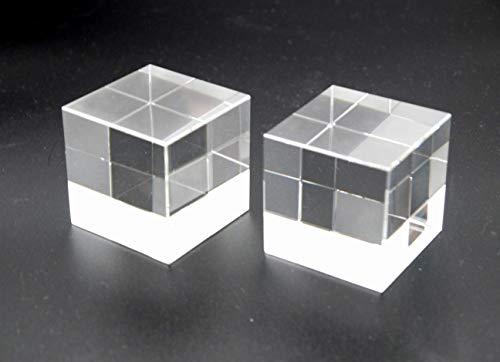 アクリルブロック 透明 厚板 50x50x50mm 研磨 アクリル キューブ ディスプレイ スタンド 撮影 2個セット