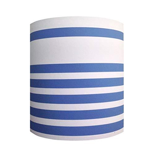 Wandleuchte, gestreift, Marineblau, Weiß/Blau
