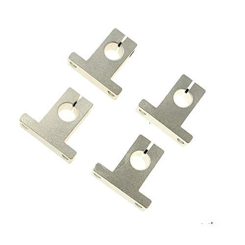 without Wnj-ball screw, 4PCS SK8 SK10 SK12 SK16 SK20 8mm 10mm 12mm 16mm 20mm Linear Ball Bearing Rail Shaft Support Block XYZ Table CNC 3D Printer Part (Size : SK8)