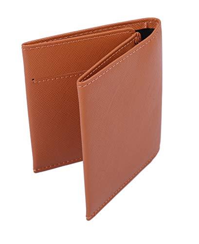【Raccolta Luce】 マネークリップ 牛本革 レザー 軽量薄型0.8cm カード4枚収納可能 (ブラウン)