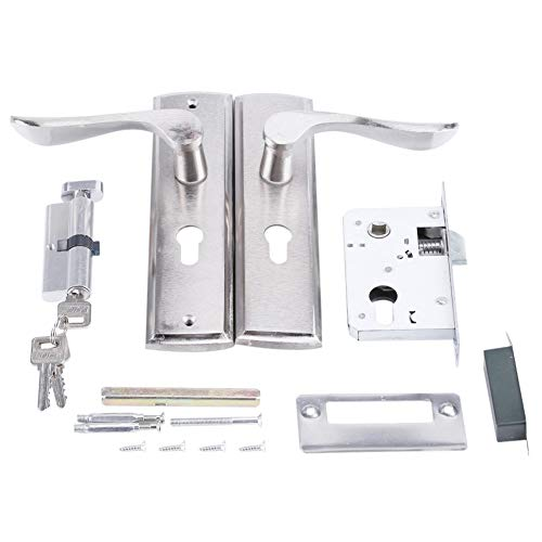 TOPINCN Türgriff Schloss Durable Türgriff Schließzylinder Front Back Lever Latch Home Security mit Schlüssel