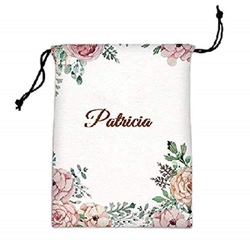 Benutzerdefinierter Name Initial Monogramm gedruckt personalisierte Polyester Make-up & Kosmetiktasche Tasche Reisetasche Veranstalter mit Kordelzug (Muster 8)