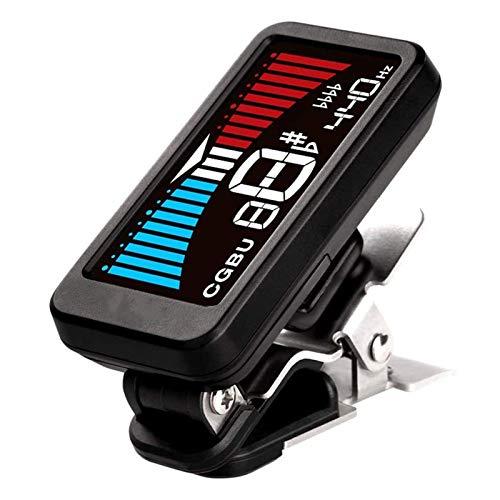 Adesign Clip Tuner Guitar On Tuner LED Display a Colori Mini Tuner Tuner Tuner Digital Tone Tone Generatore per Chitarra, Chitarra in Legno Elettrico, Bass, Ukulele (c), dodici Legge Media