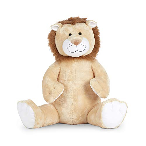 Melissa & Doug Gentle Jumbo Lion Giant Stuffed Plush Animal (Sits Nearly 3 Feet Tall)