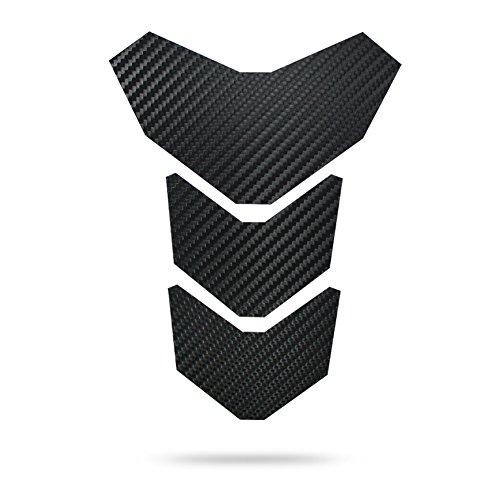 """Motoking Tankpad \""""CARBON MANTIS\"""" Tankaufkleber, Tankschutz, Lackschutz, Aufkleber Pad für Motorrad Tank - in 3 Farben erhältlich - SCHWARZ"""