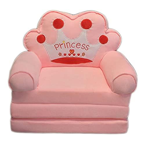 LOFAMI Foldable Kids Sofa Backrest Chair,Convertible Sofa Recliner loor Seat Nap Mat,Children's Flip Open Sofa Bed (Color : F)