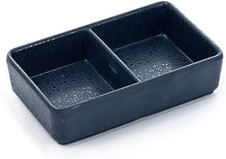 Dipping Sauce Dish Dipping Bowl Appetizer Plates صلى الصويا صحن البلاستيك 2 مقبلات مقبلات لوحات صينية مستطيلة مقسمة صلصة ا...