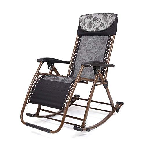 ZHANGYY Sillones para Patio Sillón reclinable Zero Gravity Mecedora Plegable para Patio con Dosel Ajustable, Respaldo, Almohada, Taza, Soporte para teléfono, sillón extraancho, Soporte de hasta 550