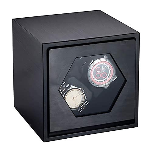 Caja enrolladora automática para relojes Caja enrolladora para relojes 2 + 0 de doble cabezal Carcasa metálica Devanadoras para relojes automáticas Caja para bobinar relojes mecánicos Agitador de mot