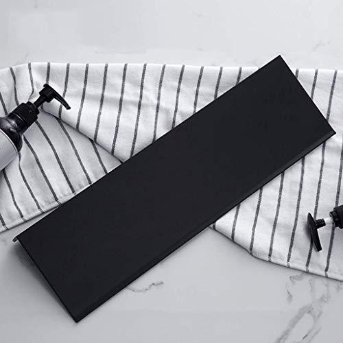 WandmontageBadkamerplank 30-60 cm aluminium douchebak badmand 1 plank rek rechthoekige plank zwart roestvrij 6,20 (Maat: 50 cm) 30 cm.