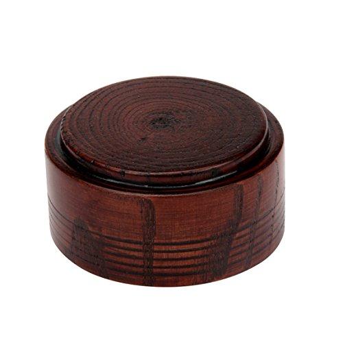 Vovotrade ZY Art und Weise hölzerne Seifenschalen Männer Rasierschalen-Schüssel-Schale für Rasierpinsel Geeignet für traditionelle Rasierer