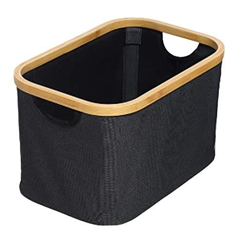 WOIA Cesta de Almacenamiento de Escritorio Misceláneas Ropa Interior Caja de Almacenamiento de Juguetes Organizador de cosméticos, Negro