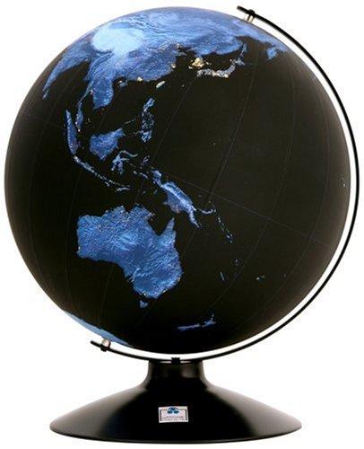 夜の地球儀