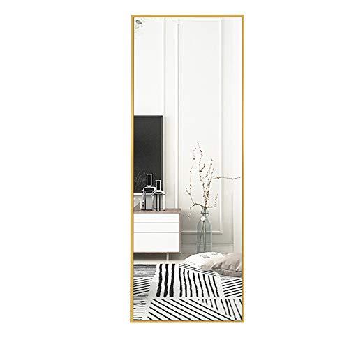 Espejo montado en la Pared Espejo de Cuerpo Entero sin Perforaciones Espejo de Cuerpo Entero Espejo de tocador doméstico tamaño 30 * 120 cm Negro/Blanco/Dorado/marrón Espejo de tocador cuadrad