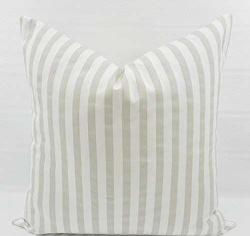 French Grey & White Basic Stripe Pillow cover. Sham cover. throw Pillow cover. Select size.