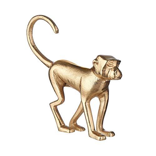 Butlers Golden Nature Deko AFFE 18 cm in Gold - Afrikanische Tischdeko und Accessoires - Home Decor Gold, Tierstatue